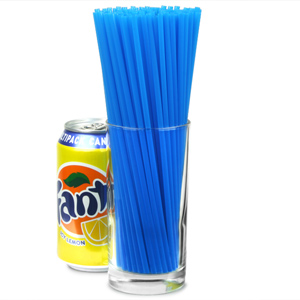 Collins Straws 8inch Blue