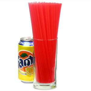 Collins Straws 8inch Red