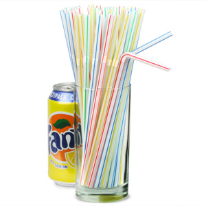 Flexi Straws 8inch Striped
