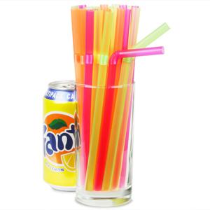 Jumbo Bendy Straws Neon 7.5inch