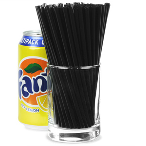 Memphis Straws 55inch Black Pack Of 1000