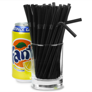 Small Bendy Straws 5.5inch Black