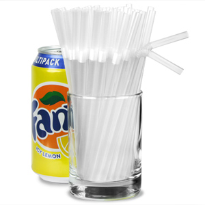 Small Bendy Straws 5.5inch Clear
