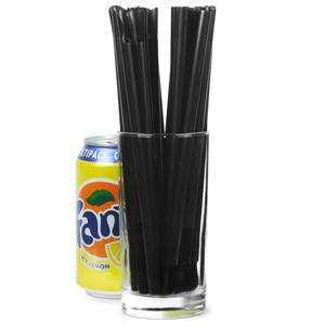 Spoon Straws 8inch Black