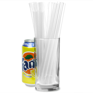 Spoon Straws 8inch Clear