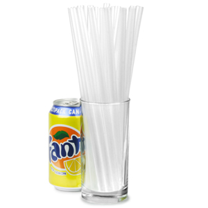 Super Jumbo Straws 9inch Clear Box Of 200