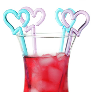 Long Heart Cocktail Stirrers