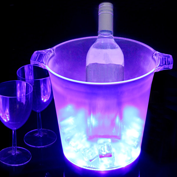 Ice Blue Led Ice Bucket Glowing Ice Bucket Light Up Wine