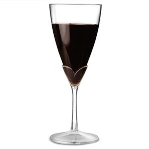 Two Tone Acrylic Wine Glasses Clear Stem 10oz / 280ml