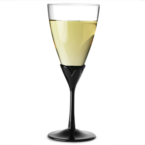 Two Tone Acrylic Wine Glasses Black Stem 10oz / 280ml