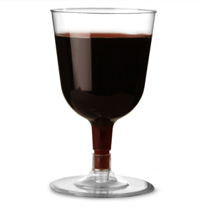 Disposable Wine Glasses Clear 5.3oz / 150ml