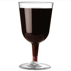 Disposable Wine Glasses Clear 8.5oz / 240ml