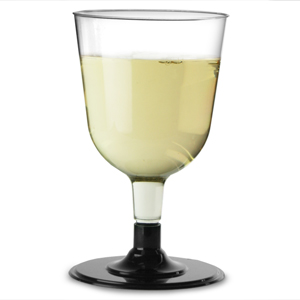 Disposable Wine Glasses Black 5.3oz / 150ml