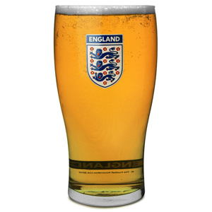 Official England Pint Glasses Set 20oz / 568ml