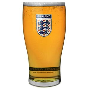 Official England Pint Glasses Set 20oz / 568ml