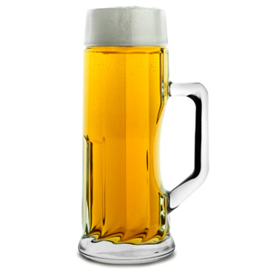 Premium Ribbed Beer Tankard 17.5oz / 500ml