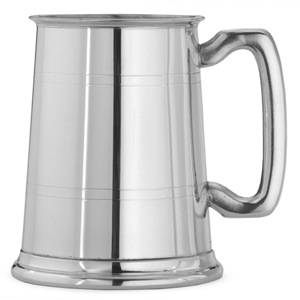 Straight Sided Pint Pewter Tankard 20oz / 568ml