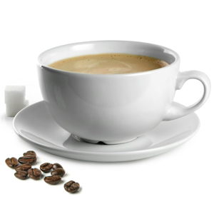 Churchill White Beverage Cappuccino Cup and Cappuccino Saucer 16oz / 450ml