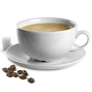 Churchill White Beverage Cappuccino Cup and Cappuccino Saucer 16oz / 450ml