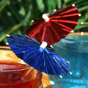 Foil Cocktail Umbrellas Parasols Pack Of 144