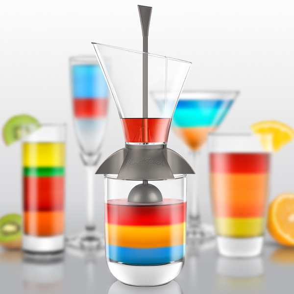rainbow cocktail layering tool layered cocktail maker cocktailmaster buy at drinkstuff. Black Bedroom Furniture Sets. Home Design Ideas