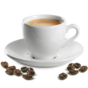 Churchill White Beverage Espresso Cup and Espresso Saucer 3.5oz / 100ml