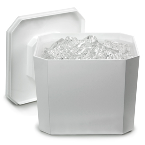 Octagonal Ice Bucket White 4.5ltr