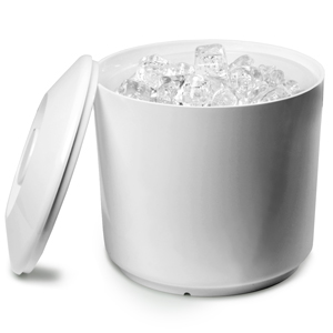 Round Ice Bucket White 4ltr