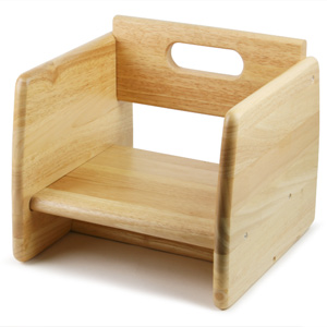 Wooden Booster Seat Natural
