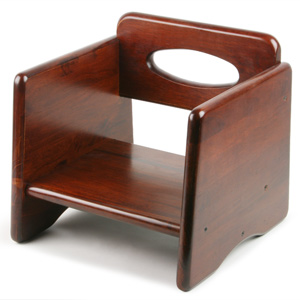 Wooden Booster Seat Walnut