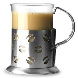 Apollo Stainless Steel Coffee Glasses 7oz / 200ml