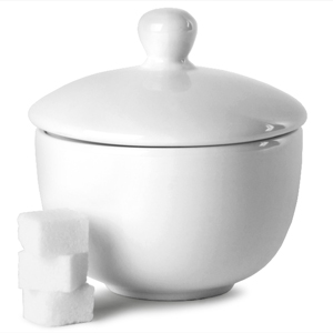 Churchill White Sandringham Sugar Bowl B35 and Lid LS
