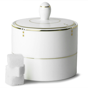 Elia Cubiq Covered Sugar Bowl