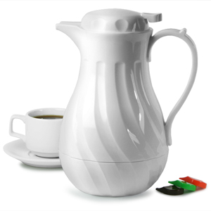 Connoisserve Coffee Pot White 40oz 12ltr Single
