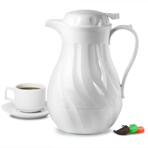 Connoisserve Coffee Pot White 64oz / 2ltr