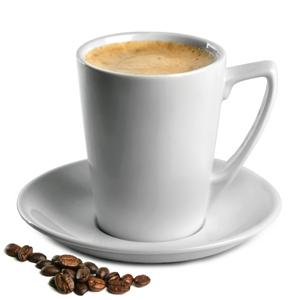 Royal Genware Angled Latte Mugs & Saucers 12.25oz / 350ml