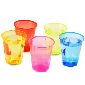 Crystal Rainbow Disposable Party Cups 8.8oz / 250ml