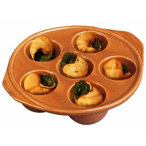 Digoin Snail Dish 6 Hole