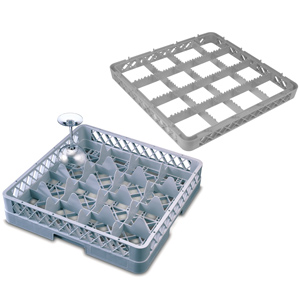 Image of 16 Compartment Glass Rack with 4 Extenders