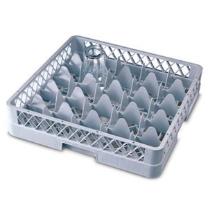 25 Compartment Glass Rack