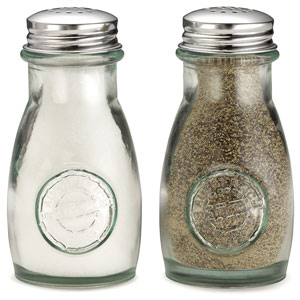 Authentic Recycled Salt & Pepper Shakers