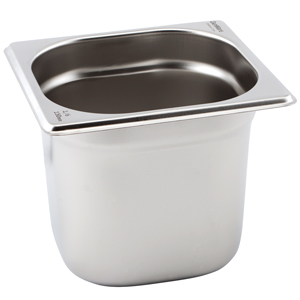 Gastronorm Pan 1/6 One Sixth Size 150mm Deep