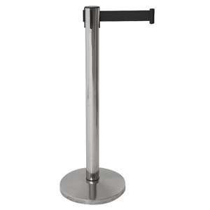 Genware Barrier Post with Retractable Black Belt