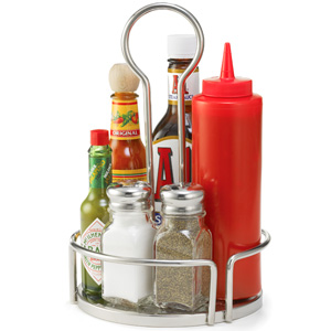 Versa Condiment Rack Stainless Steel 18.5cm