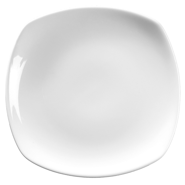Royal Genware Rounded Square Plates 25cm  sc 1 st  Drinkstuff & Royal Genware Rounded Square Plates 25cm | 9.75inch Dinner Plates ...