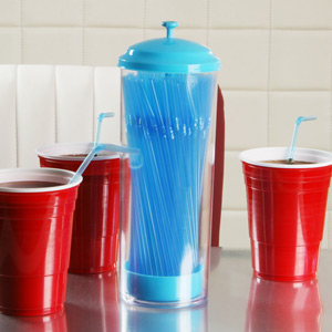 Cannucce Plastic Straw Dispenser Blue