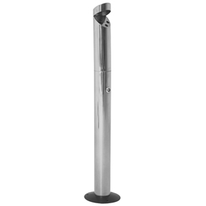Stainless Steel Floor Standing Smokers' Pole Cigarette Bin