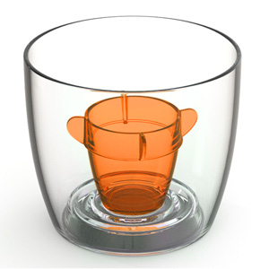 Bomber Cups Orange 3.8oz / 108ml