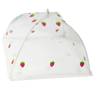 Strawberry Umbrella Food Cover 30 x 30cm