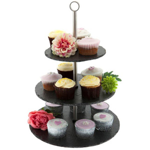 Just Slate 3 Tier Cake Stand